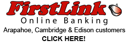 First Link Online banking for customers in Arapahoe, Cambridge or Edison, Nebraska from First Central Bank